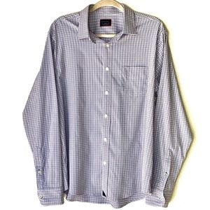 UNTUCKIT Plaid Long Sleeve button up. Size Large